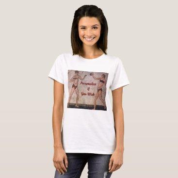 Funny Bikini Beach Volleyball Roman Mosaic Shirt