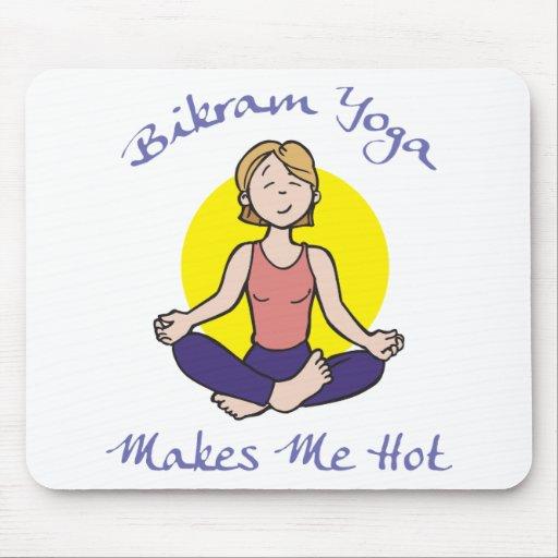 Funny Bikram Yoga Gift Mouse Pad