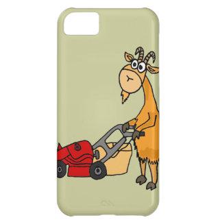 Funny Billy Goat Pushing Lawn Mower Cartoon iPhone 5C Case