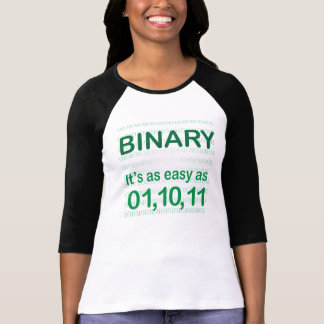 Funny Binary Easy as 01,10,11 T-Shirt