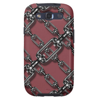 Funny Binded In Chains On Aged Cabernet Background Samsung Galaxy SIII Cases