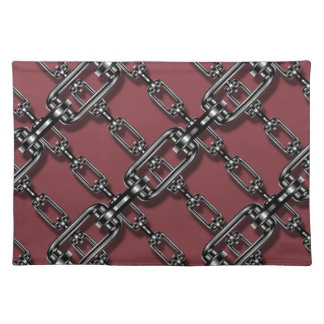 Funny Binded In Chains On Aged Cabernet Background Placemats