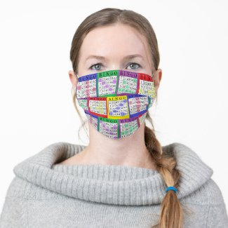 Funny BINGO cards Cloth Face Mask