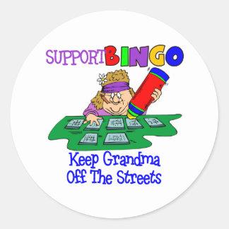 Funny Bingo Grandma Gift Classic Round Sticker
