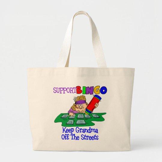 Funny Bingo Grandma Gift Large Tote Bag
