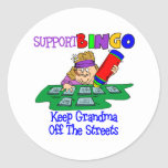 Funny Bingo Grandma Gift Stickers