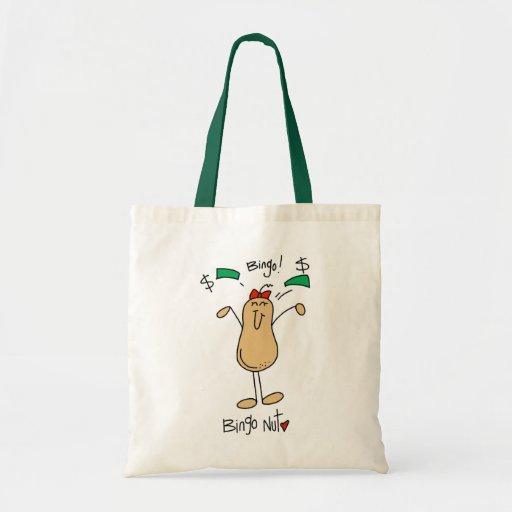 Funny Bingo Nut Gift Budget Tote Bag