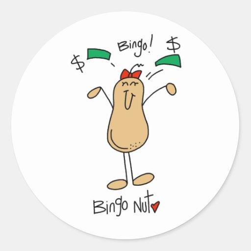 Funny Bingo Nut Gift Stickers
