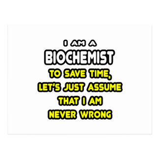 Funny Biochemist T-Shirts and Gifts Post Card