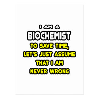 Funny Biochemist T-Shirts and Gifts Post Cards