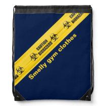 Funny Biohazard School Gym Bag Drawstring Backpack