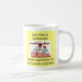 funny biology lab joke, funny biology lab joke classic white coffee mug