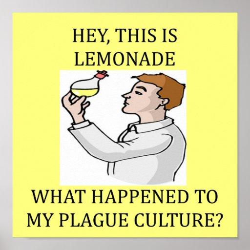 funny biology lab joke poster