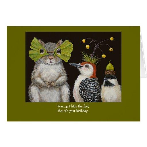 Funny Bird/animal Birthday Card