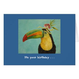 Funny bird birthday card