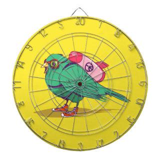 Funny bird dartboard with darts