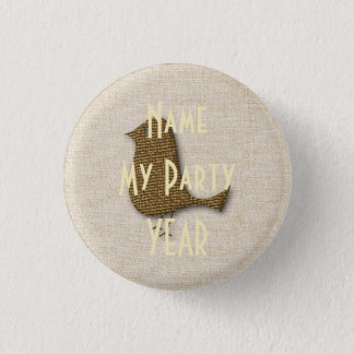 Funny Bird  Kids Party Baby Shower Badge Pinback Button