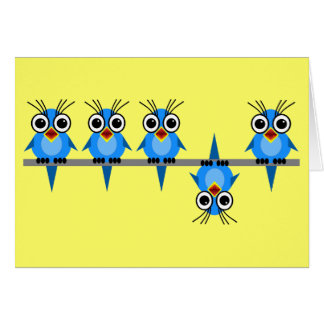 funny birds card