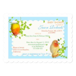 Funny birds Custom Baby Shower Invitation. Card