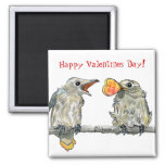 Funny Birds Happy Valentines Day Magnet