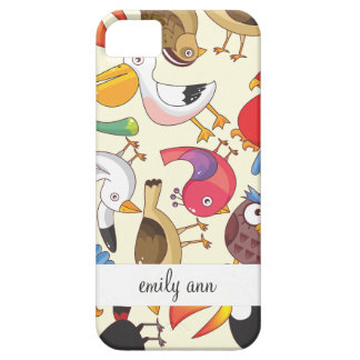 Funny Birds Illustrations Pattern iPhone 5 Cover