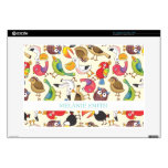 "Funny Birds Illustrations Pattern Skins For 15"" Laptops"