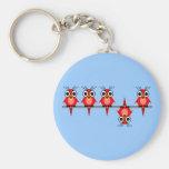 funny birds keychains