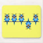 funny birds mousepads
