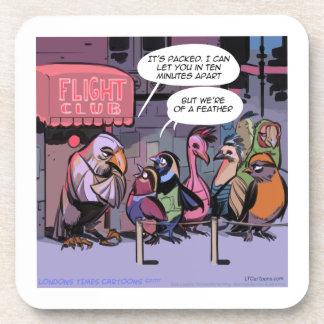 Funny Birds Of A Feather Drink Coaster