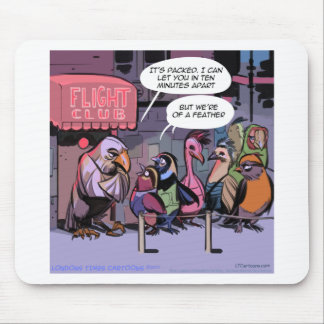 Funny Birds Of A Feather Mouse Pad