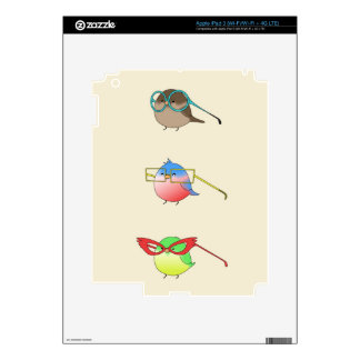 Funny Birds iPad 3 Decals