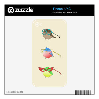 Funny birds skin for iPhone 4S