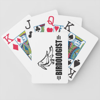 Funny Birdwatcher's Bicycle Playing Cards