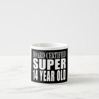 Funny Birthday B. Cert. Super Fourteen Year Old Espresso Cup