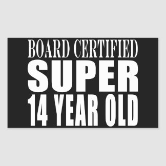 Funny Birthday B. Cert. Super Fourteen Year Old Rectangular Sticker