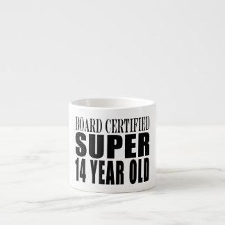 Funny Birthday B. Cert. Super Fourteen Year Old 6 Oz Ceramic Espresso Cup