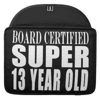 Funny Birthday B. Cert. Super Thirteen Year Old Sleeves For MacBook Pro