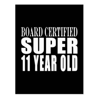 Funny Birthday B Certified Super Eleven Year Old Postcards