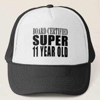 Funny Birthday B. Certified Super Eleven Year Old Trucker Hat