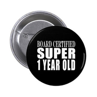 Funny Birthday B. Certified Super Nine Year Old Pinback Buttons