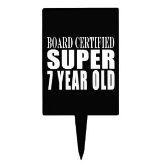 Funny Birthday B. Certified Super Seven Year Old Cake Topper