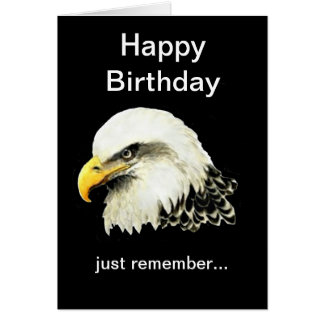 Funny Birthday, Bald is Beautiful Bald Eagle Greeting Cards