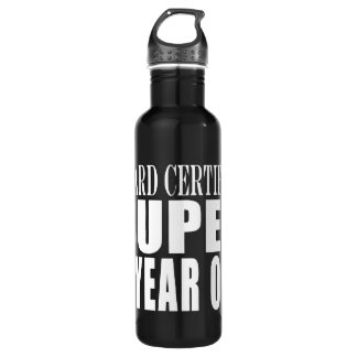 Funny Birthday Board Certified Super Six Year Old 24oz Water Bottle