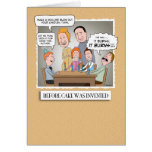 Funny birthday card: Before Cake Card