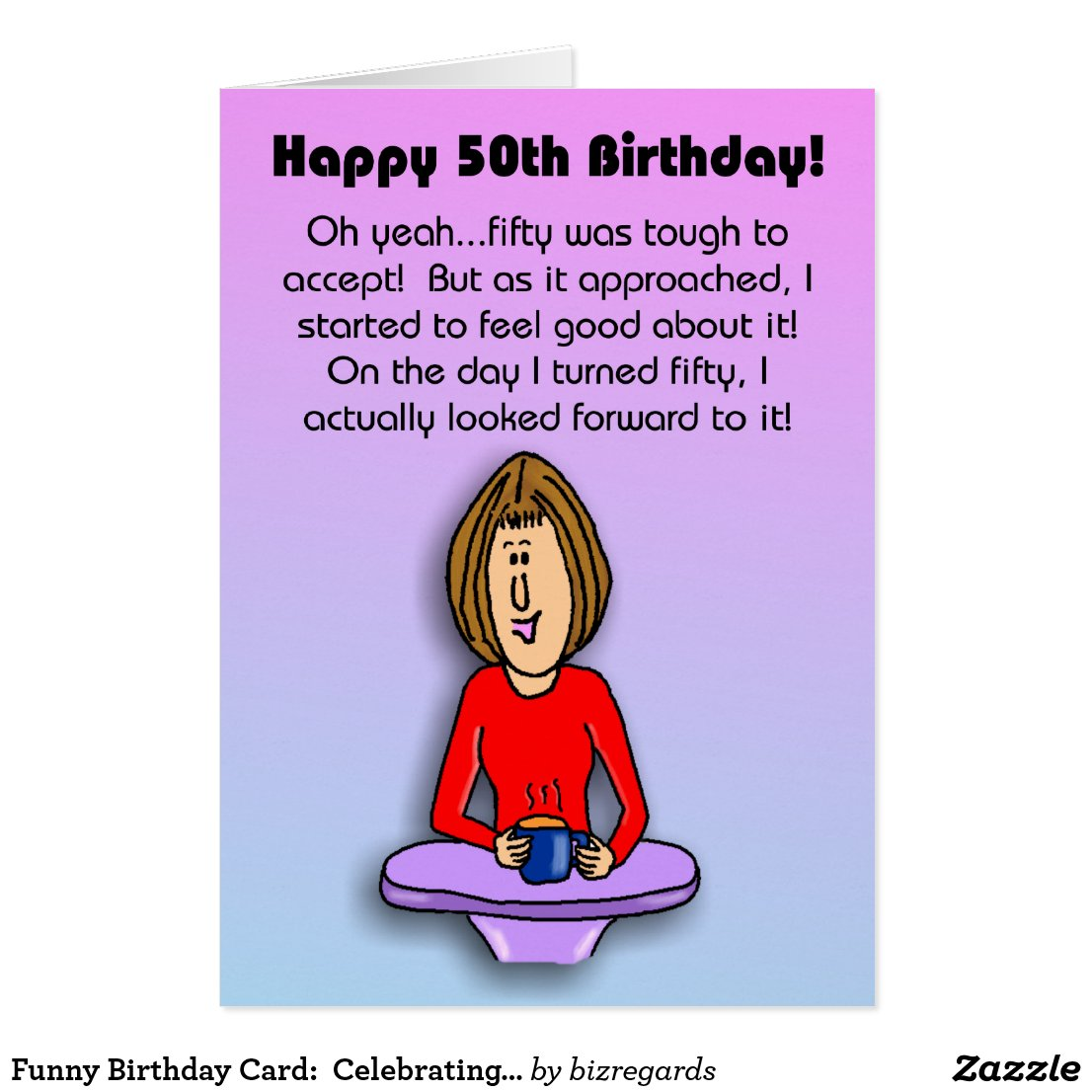 Funny Birthday Cards For Women 50 Years