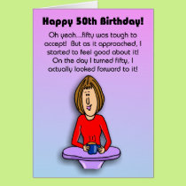 Funny Birthday Card:  Celebrating 50th Birthday Card