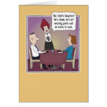 Funny birthday card: Chef's Surprise Greeting Card