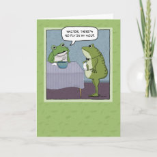Funny birthday card: Disappointed frog