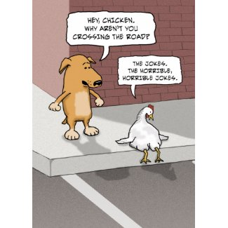 Funny Dog and Chicken Birthday Card