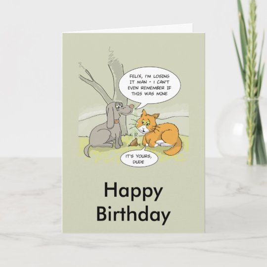 Funny Birthday Card Dog Poo